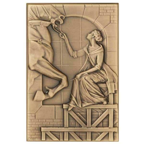 garden-Brass Plaque-Medal Craft Mint Inc