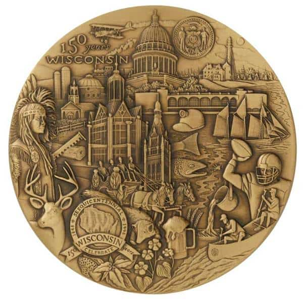 wisconsin Medal-Medal Craft Mint Inc