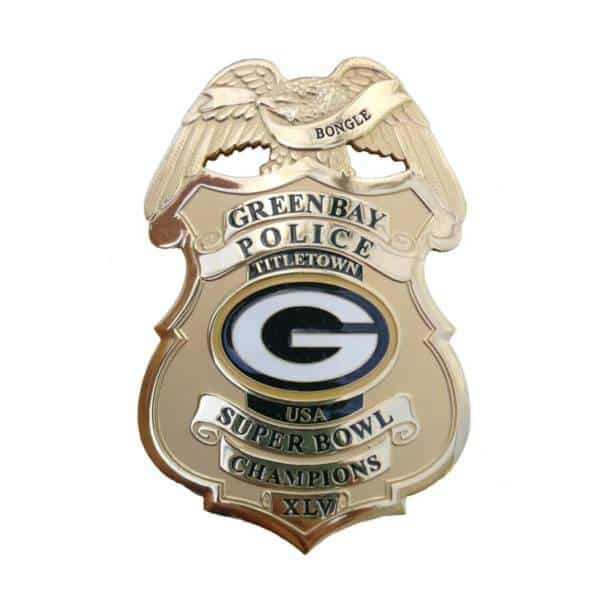 Super Bowl XLV Police Badge Green Bay packer-badge