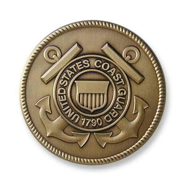 Medalcraft Mint coast guard medallion