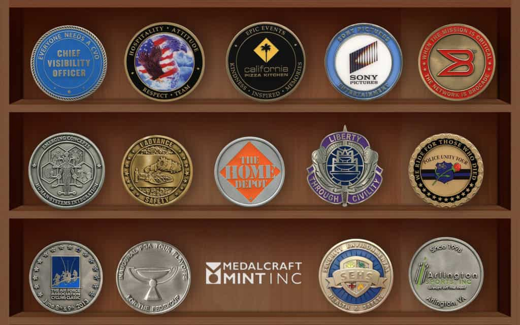 Challenge coins by Medalcraft Mint
