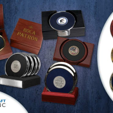Custom Medallion Coasters from Medalcraft Mint Offer a Touch of Class