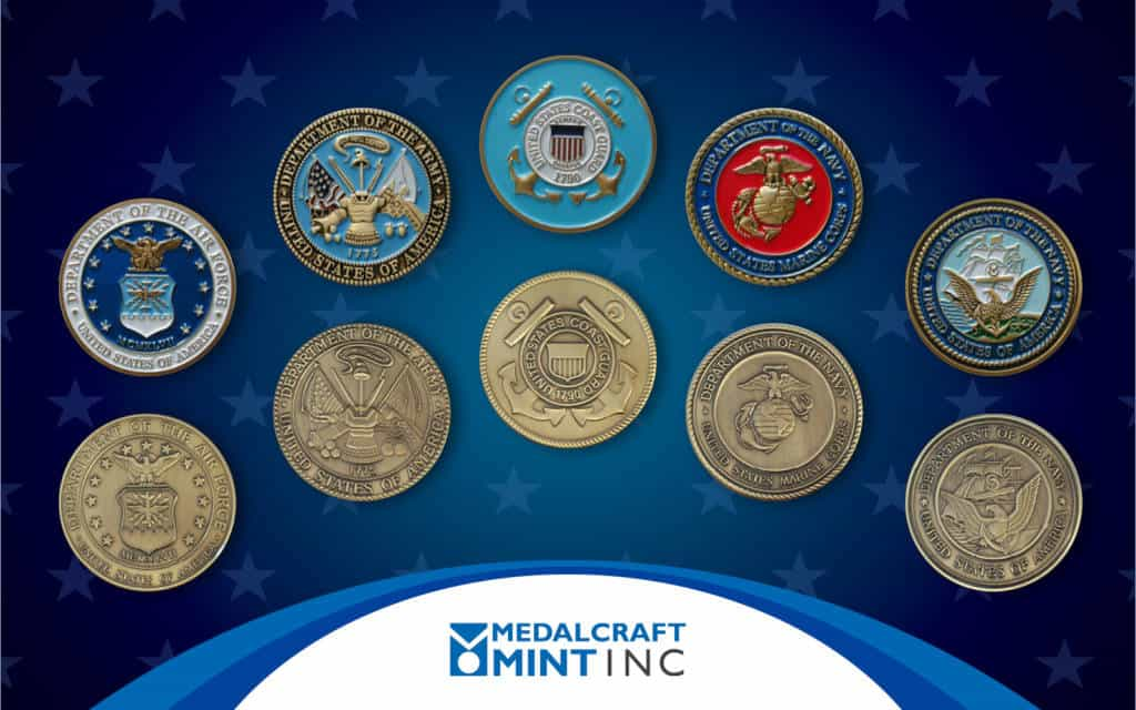 Medalcraft Minet custom military challenge coins