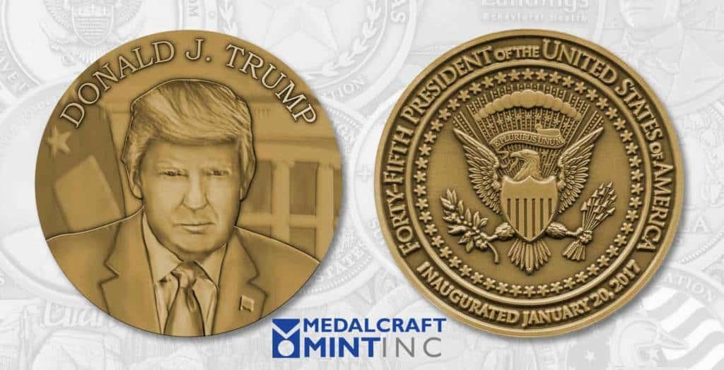 Medalcraft Mint Trump Inaugural Medal
