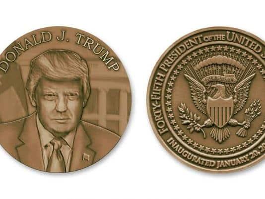 Medalcraft Mint Trump inaugural medallion, inaugural medal