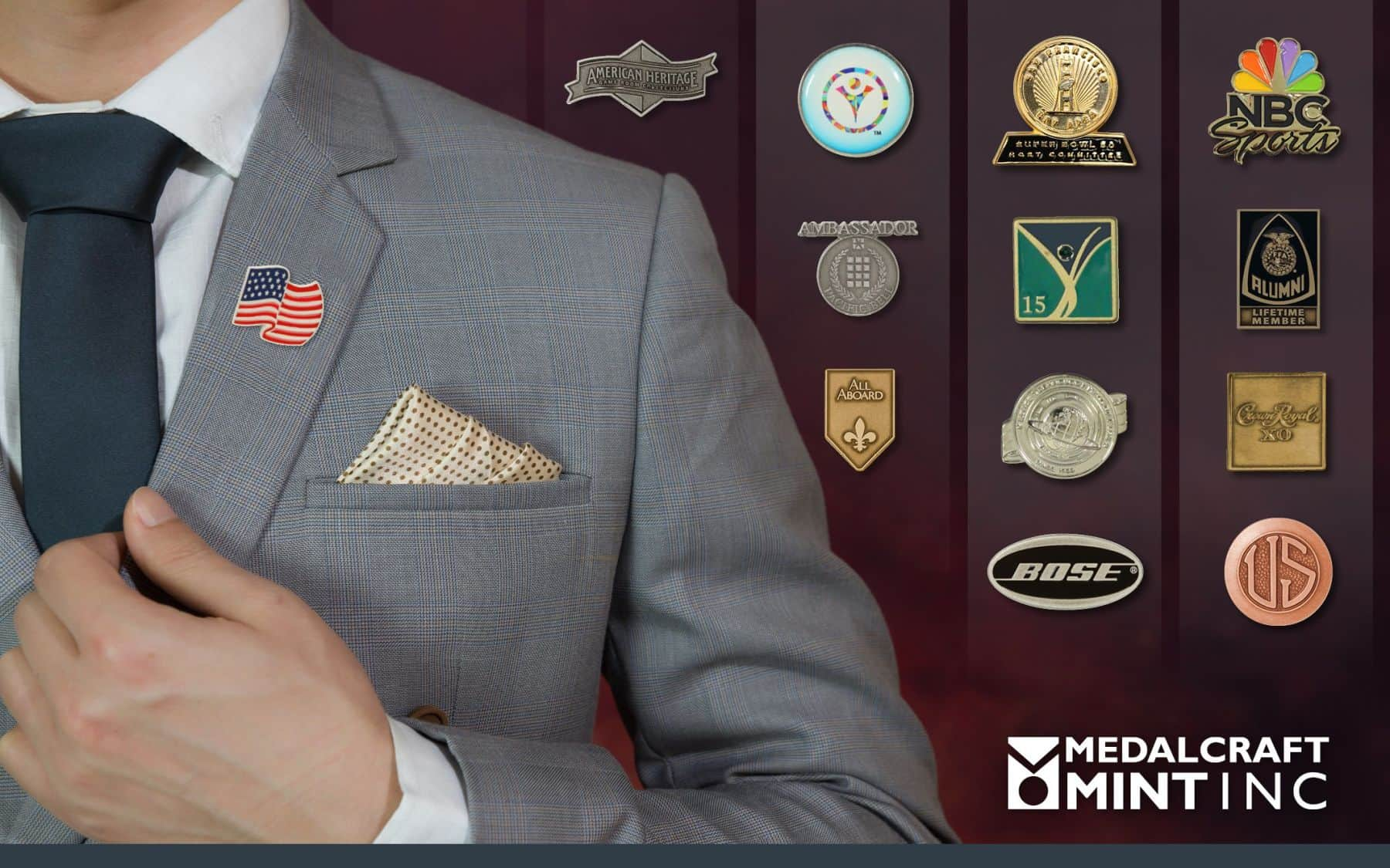 Custom Lapel Pins Provide a Touch of Class for Corporate