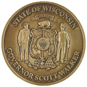 Governor-scott-walker-Coin-Medal Craft Mint Inc
