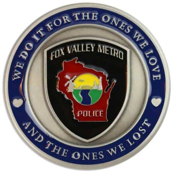 Medalcraft Mint Fox Valley Metro Police Challenge Coin