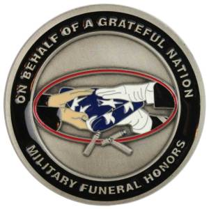 Military Funeral Honors Challenge Coin