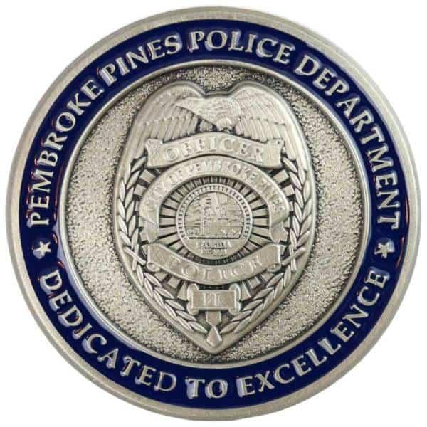 Medalcraft Mint Pembroke Pines Police Department