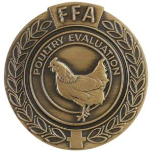 FFA Poultry Evaluation Lapel Pin-Medal Craft Mint Inc