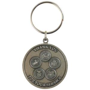 Military Service Key Ring
