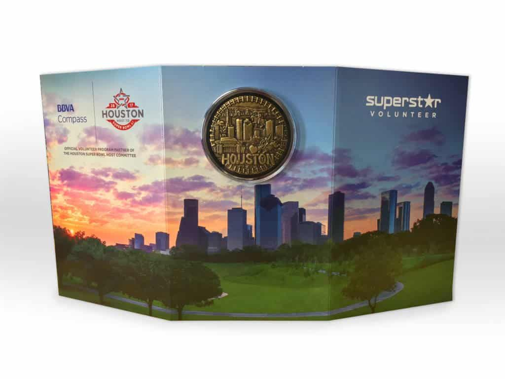 Medalcraft Mint Houston SuperBowl Commemorative Coin Card