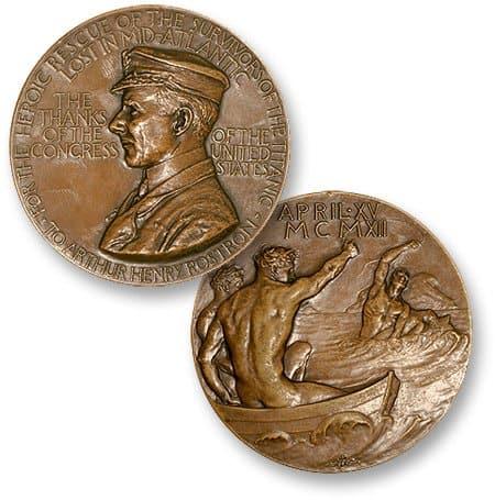 Medalcraft Mint Arthur Henry Rostron Medal