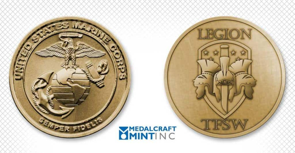 Medalcraft Mint custom military unit coins