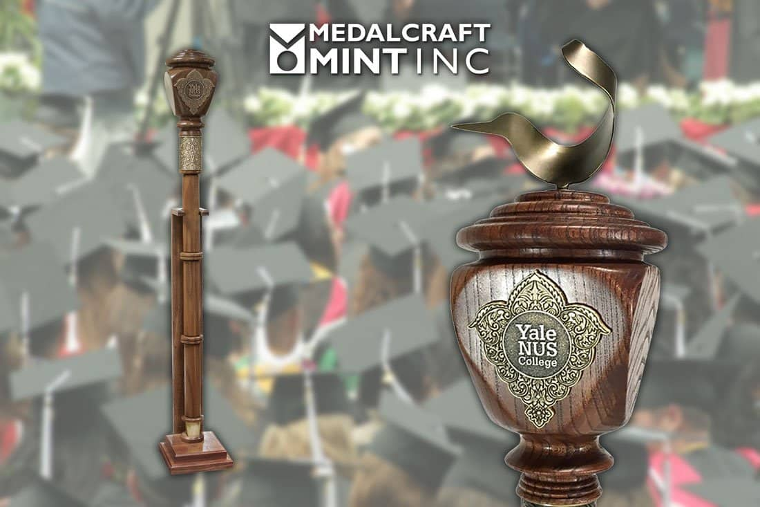 Medalcraft Mint can elevate the look of your collegiate mace