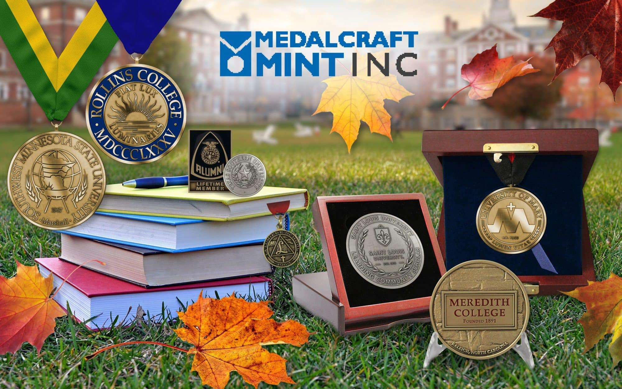 Let Medalcraft Mint design your collegiate medallions