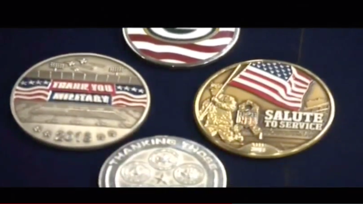 Medalcraft featured in NFL Veterans gameday highlights