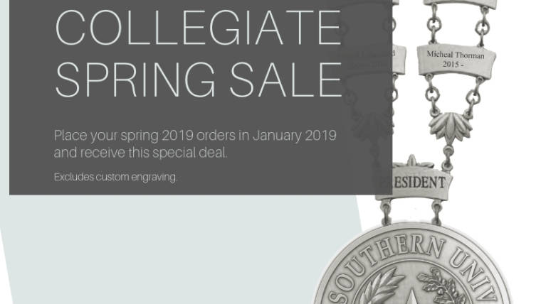 10% discount on all spring collegiate orders