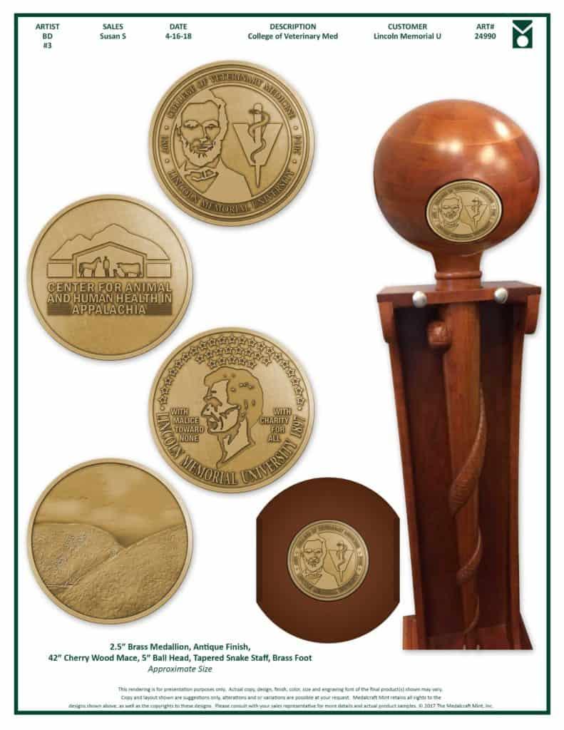 Medalcraft Mint ceremonial mace proof