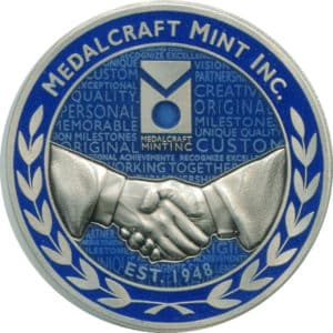 Corporate challenge coin nickel silver