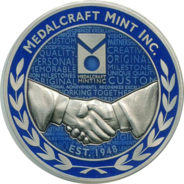 Medalcraft Mint Corporate challenge coin nickel silver