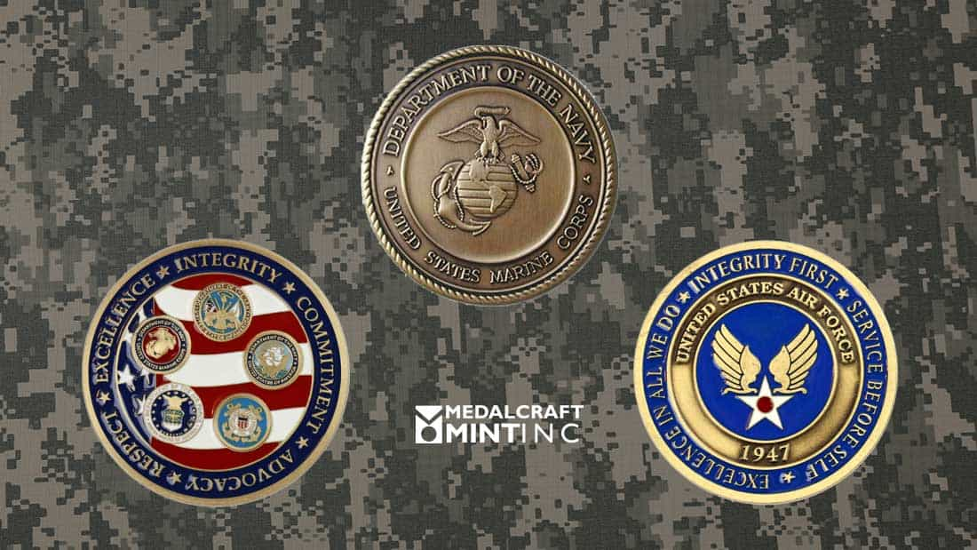 Military challenge coins provide a lasting symbol of teamwork