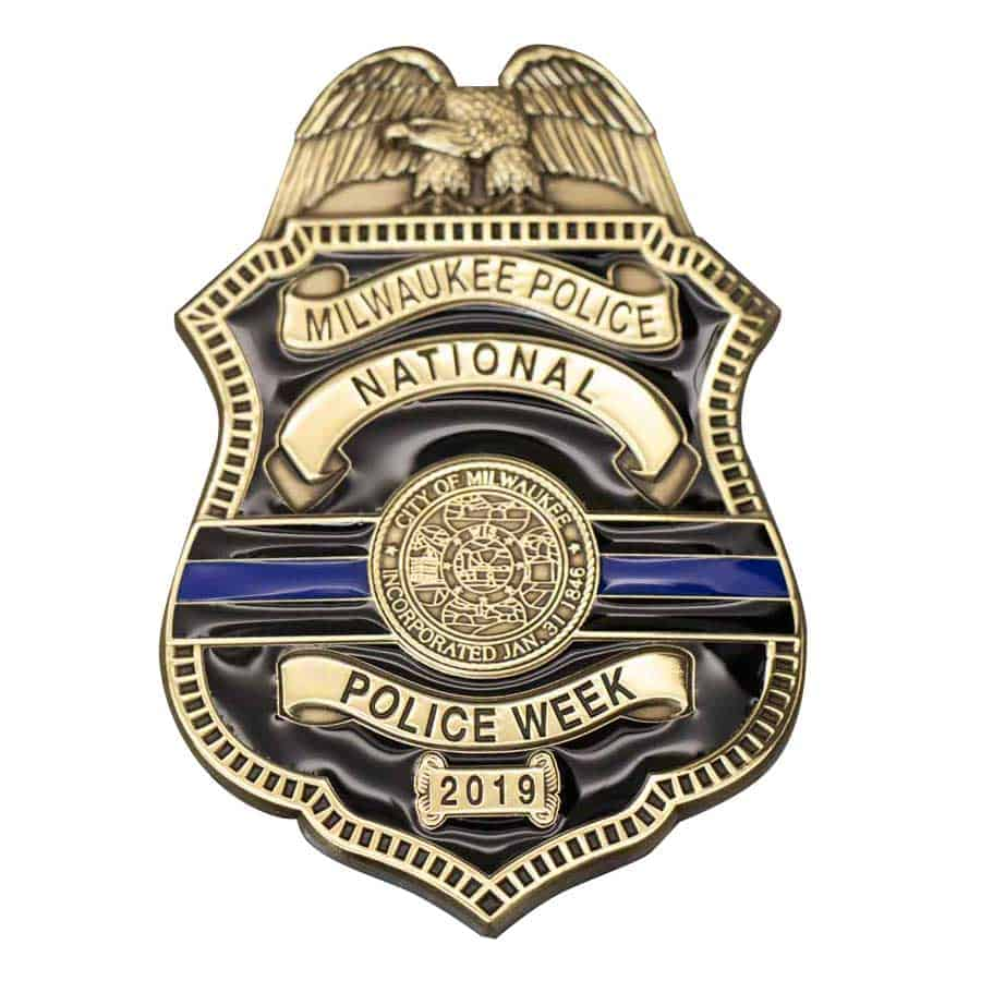 custom badges- Milwaukee police week