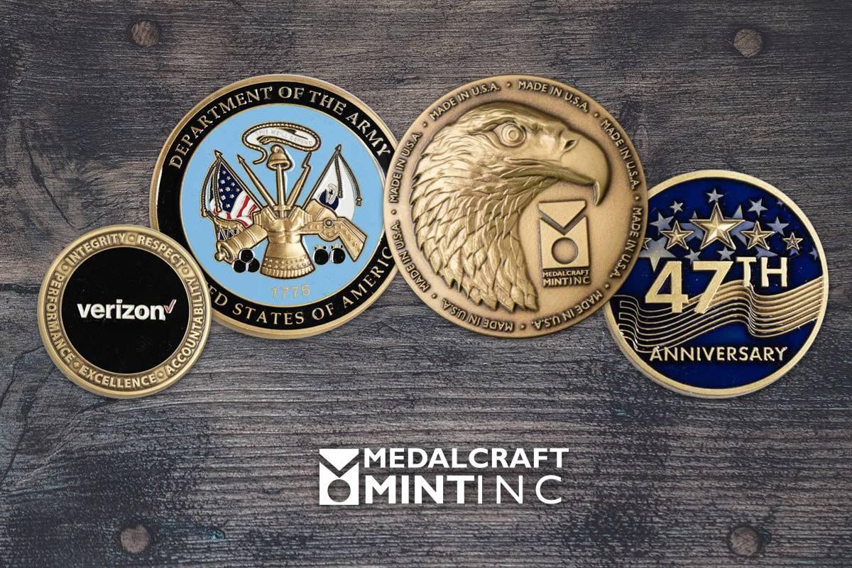 Medalcraft Mint custom brass coins
