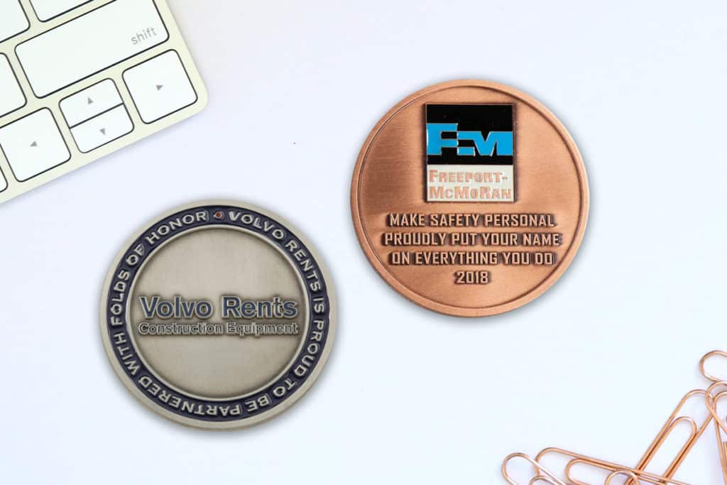 custom business coins