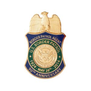 Border Patrol Gold Plated Anniversary Badge