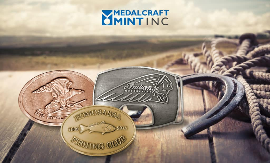 Medalcraft Mint Custom logo belt buckles