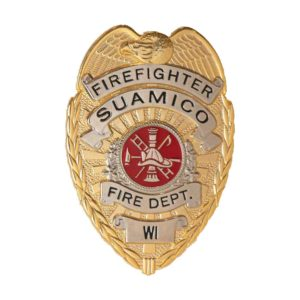 Gold Firefighter Badge
