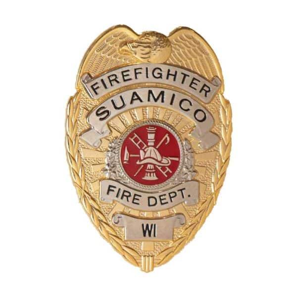 Medalcraft Mint Gold Firefighter Badge