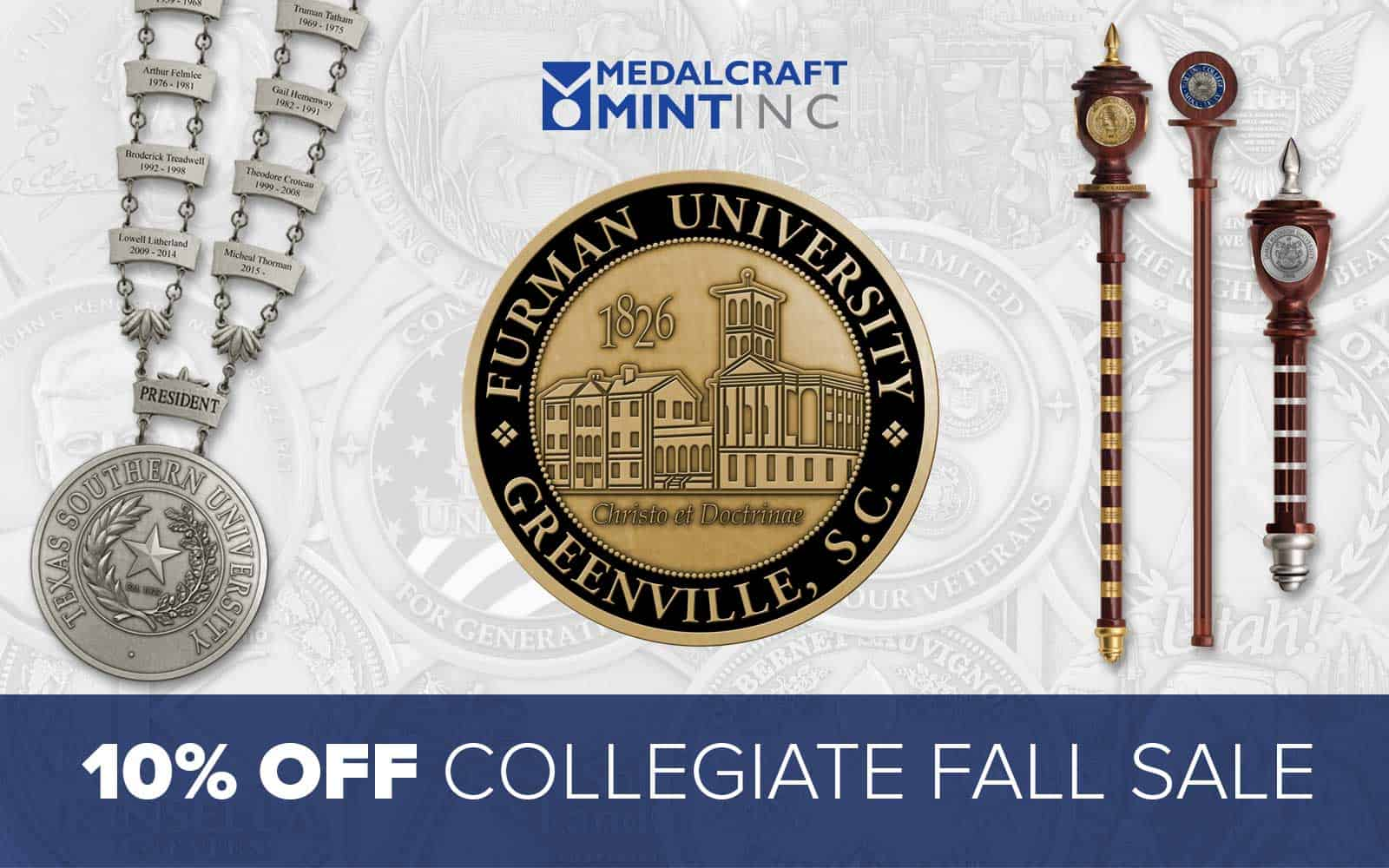 10% discount on all fall collegiate order