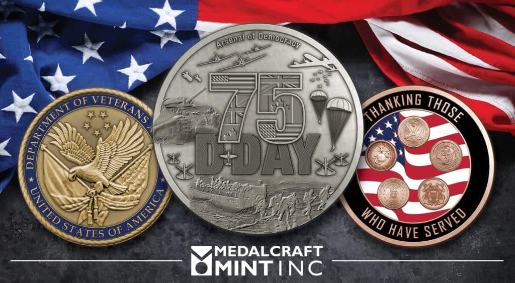 Medalcraft Mint veteran challenge coins