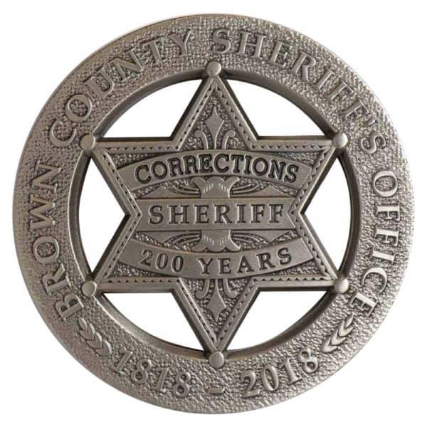 Medalcraft Mint sheriff badge 200 anniversary