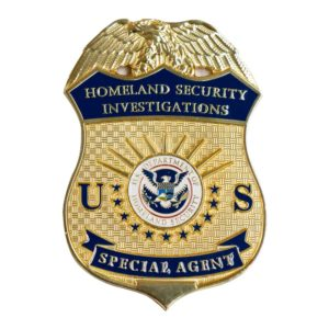 homeland security special agent badge