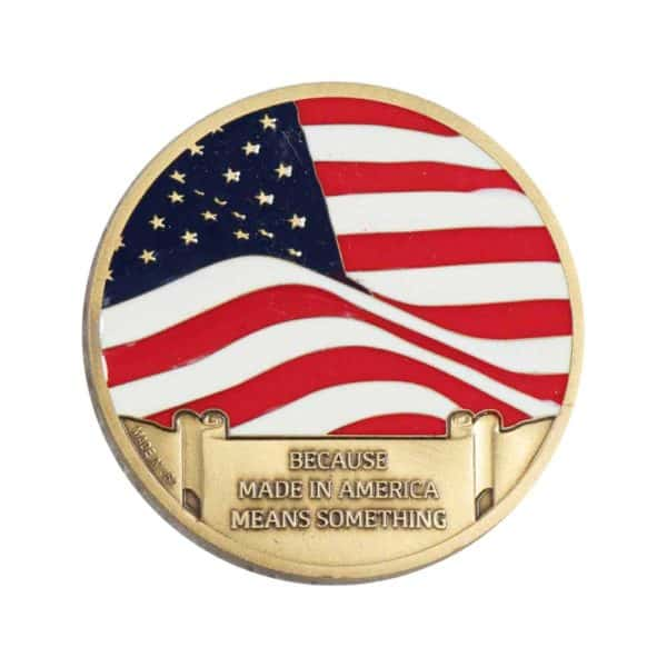 made in the USA challenge coin