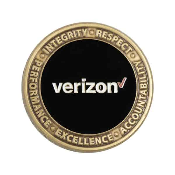 Verizon corporate challenge coin