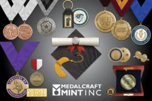 Graduation medallion popularity increases behind custom designs