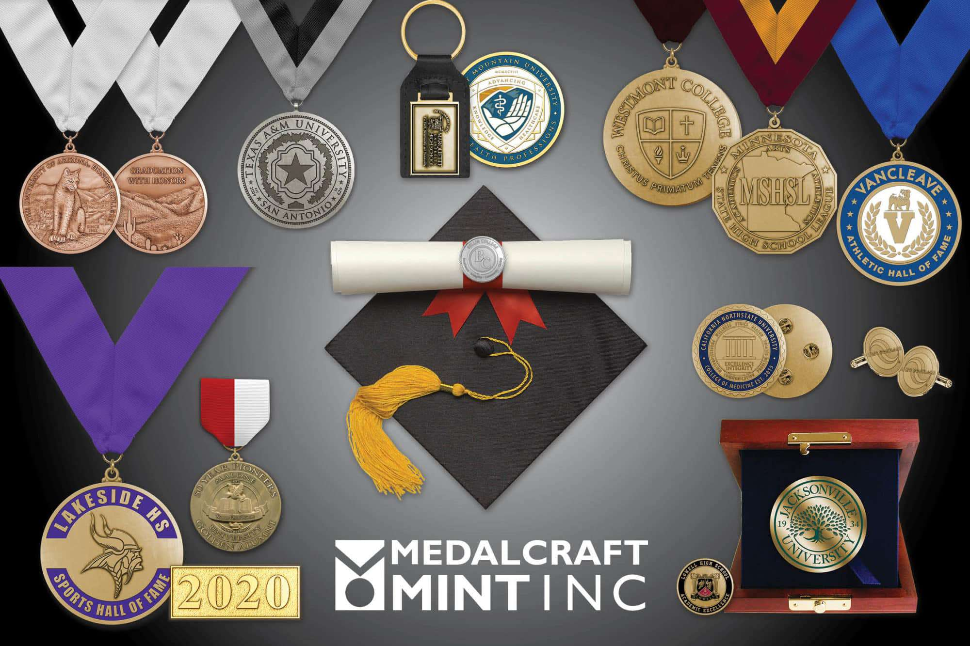 Graduation medallion popularity increases behind custom designs