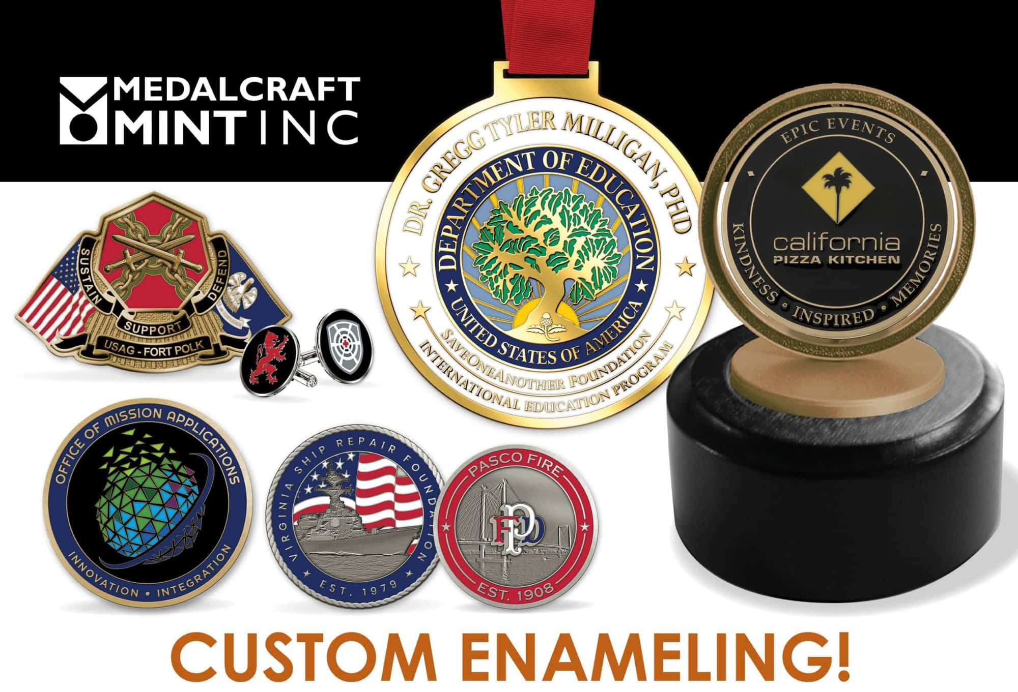 Make a statement with custom enamel coins