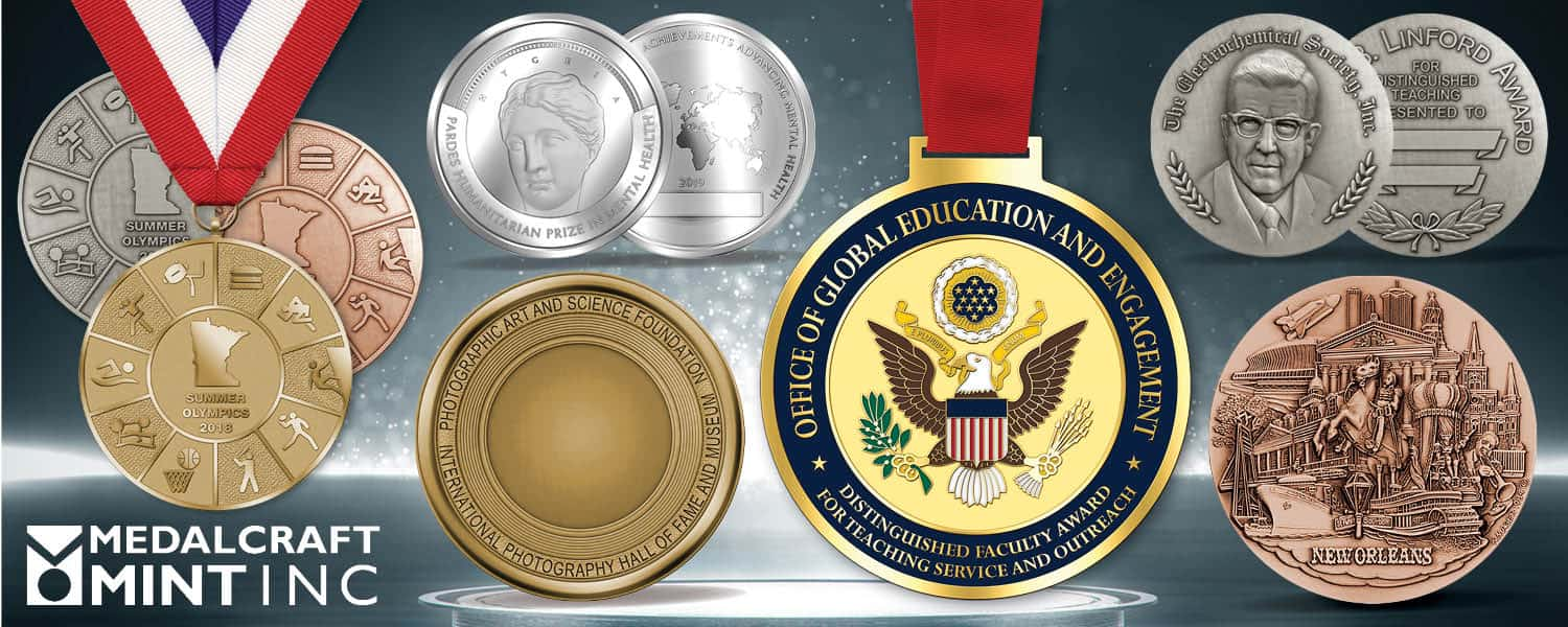 Our large award medallions feature eye-popping quality
