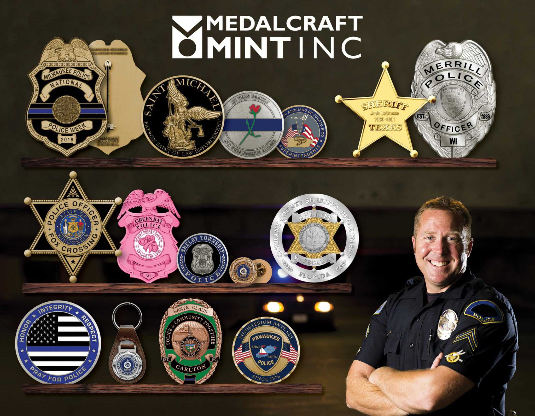 Make your police challenge coins stand out