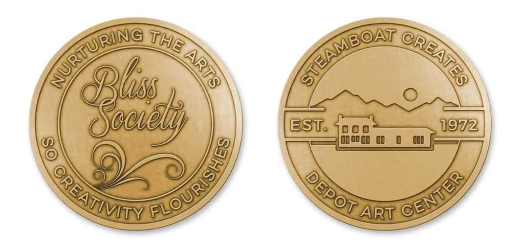 Medalcraft MInt custom challenge coin Bliss Society