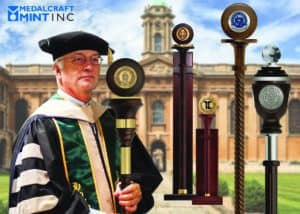 Ceremonial maces give official events a touch of class