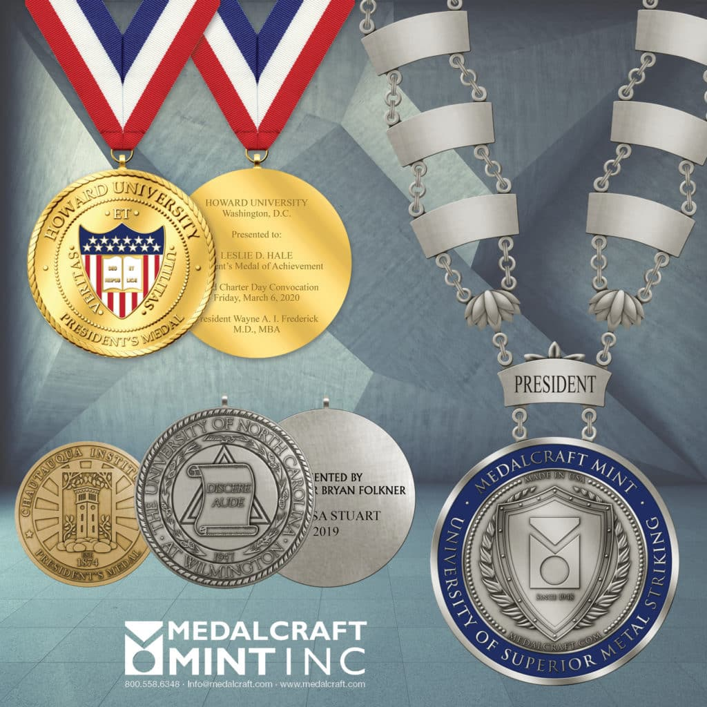 Medalcraft Mint, Inc. collegiate engravable medals