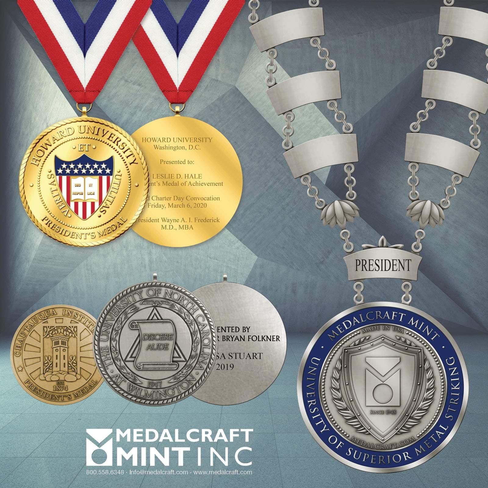 Collegiate engravable medals elevate your school's image