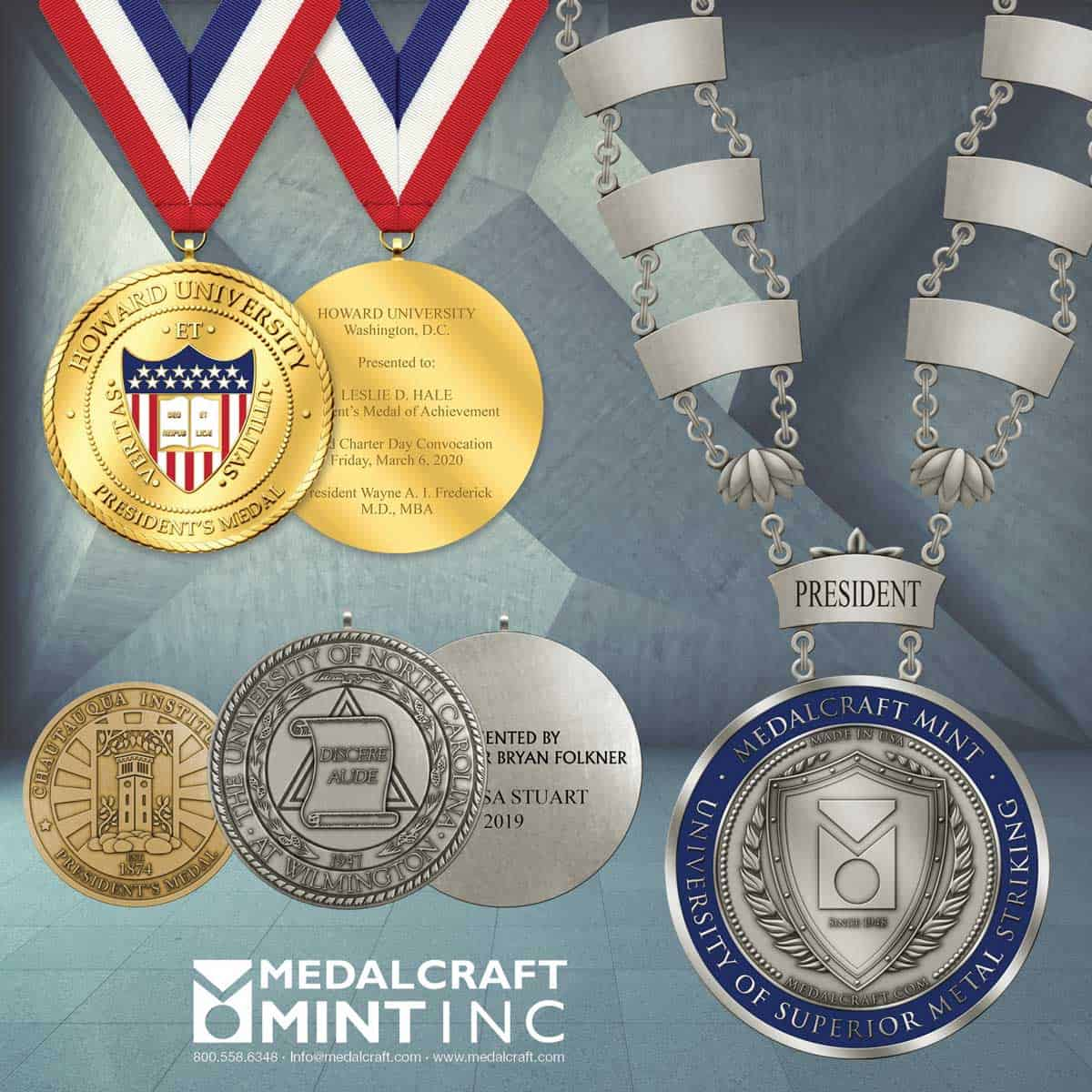 Here's why large collegiate medallions work